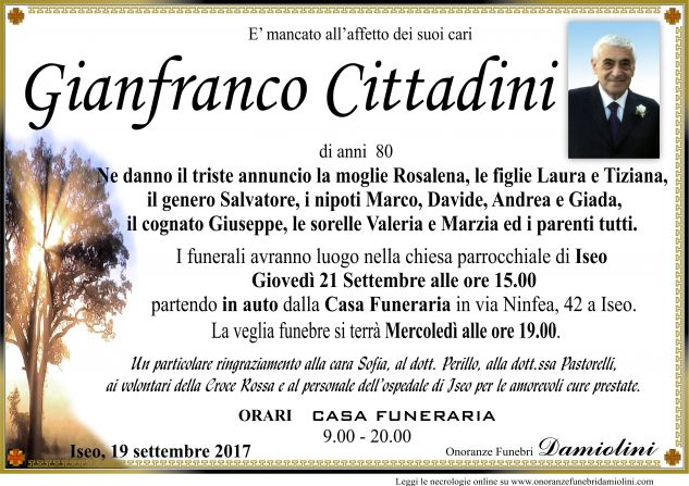 Sig. Gianfranco Cittadini
